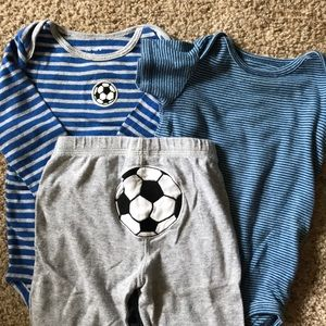 Baby soccer outfits!